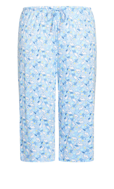 Print Sleep Bottoms - blue bunny