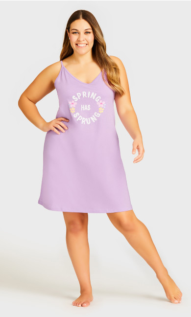 Plus Size Spring Chemise - lilac