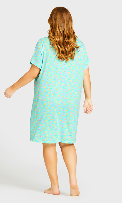 Chicks Print Sleep Shirt - mint