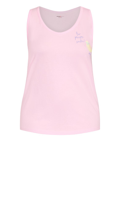 Chicks Sleep Tank - pink