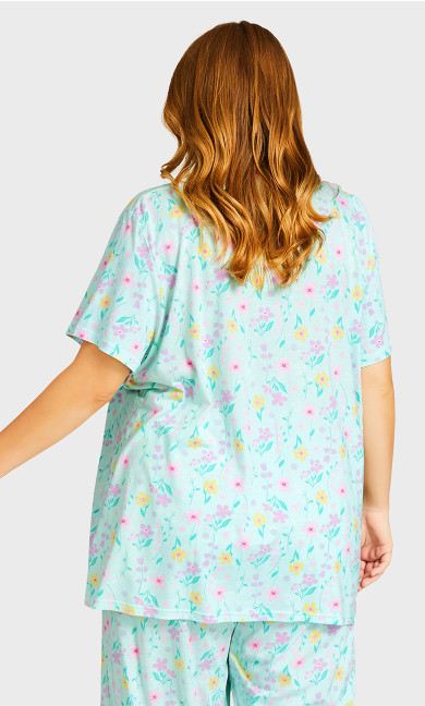 Button Up Sleep Top -  mint