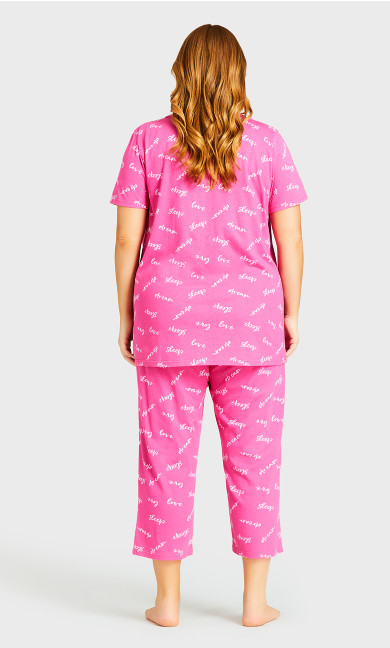 Print Sleep Bottoms - pink sleep