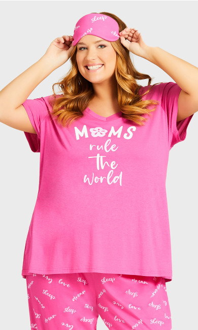 Moms Rule Sleep Set - pink