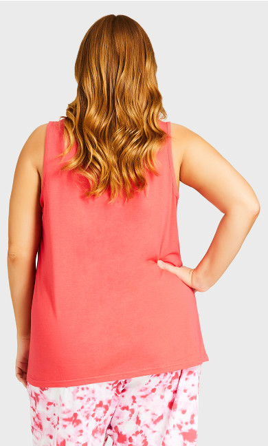 Cool Mom Sleep Tank - coral