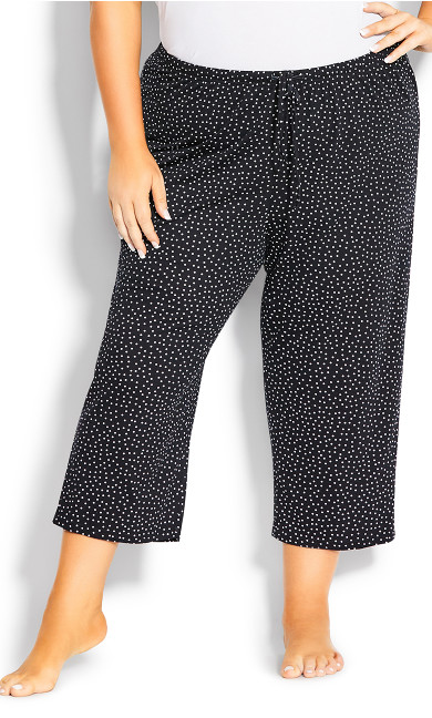 Print Sleep Bottoms - black spot