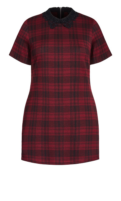 Check In Dress - red