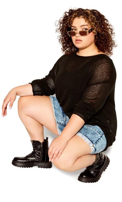Plus Size Lori Sweater - black