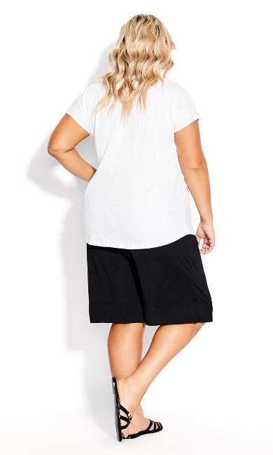 Knit Hem Short - black