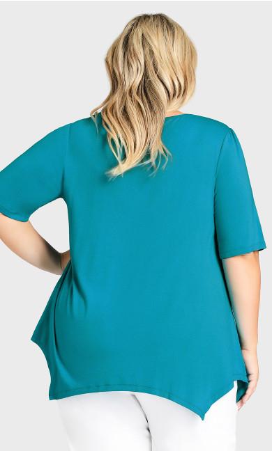 Sharkbite Top - turquoise