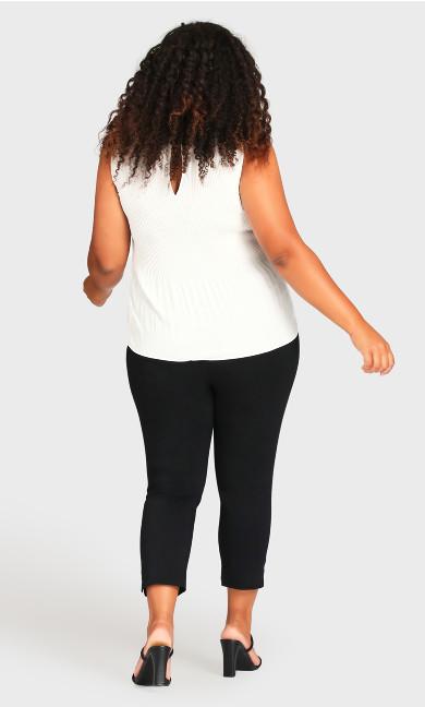 Super Stretch Crop Trouser - black