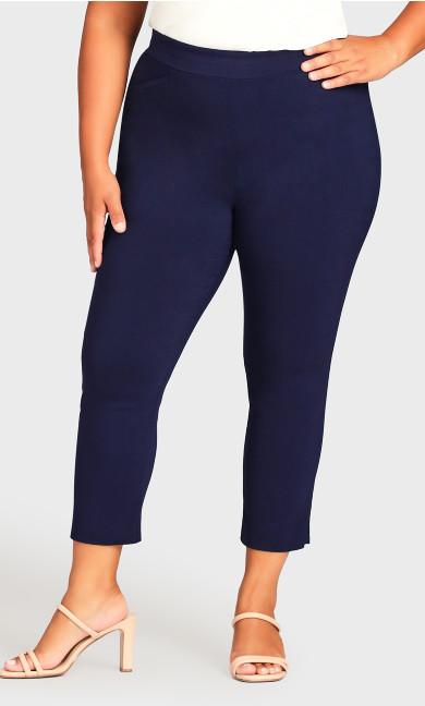 Super Stretch Crop Trouser - navy