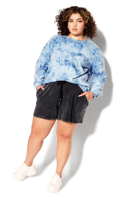 Plus Size Lila Short - black