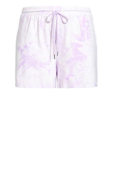 Lila Short - lilac tie dye