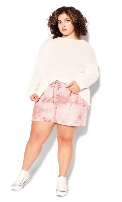 Plus Size Lila Short - rose tie dye