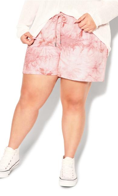 Lila Short - rose tie dye