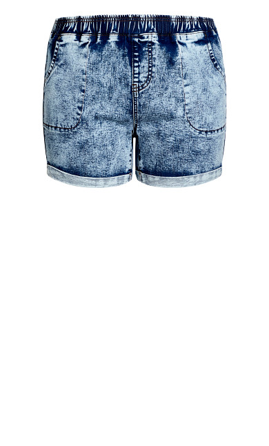Kendra Roll Up Short - stone wash