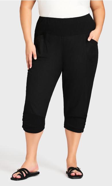 Sandy Crop Trouser - black