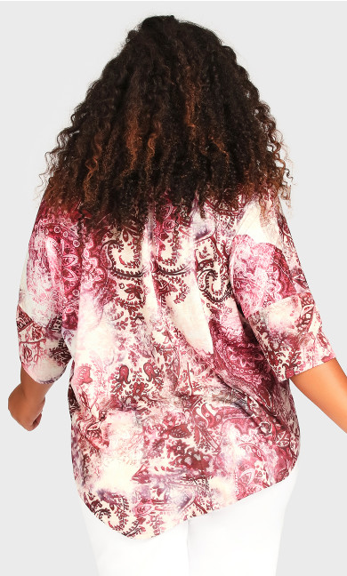 Point Front Top - magenta print