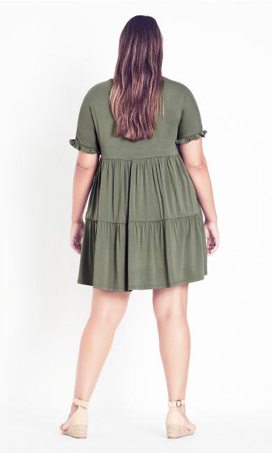 Nina Tiered Dress - olive