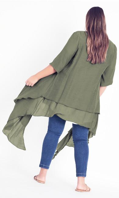 Shelby Layered Jacket - olive