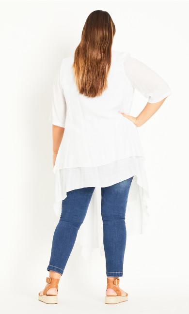 Shelby Layered Jacket - white