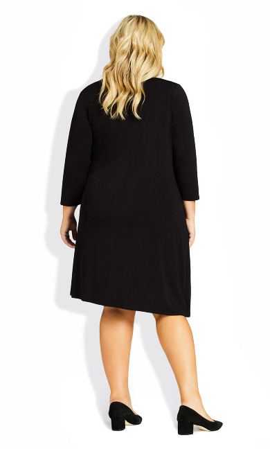 Darna Wrap Dress - black