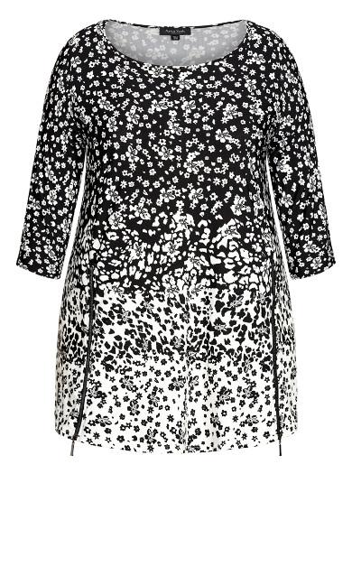 Primrose Print Tunic - black floral