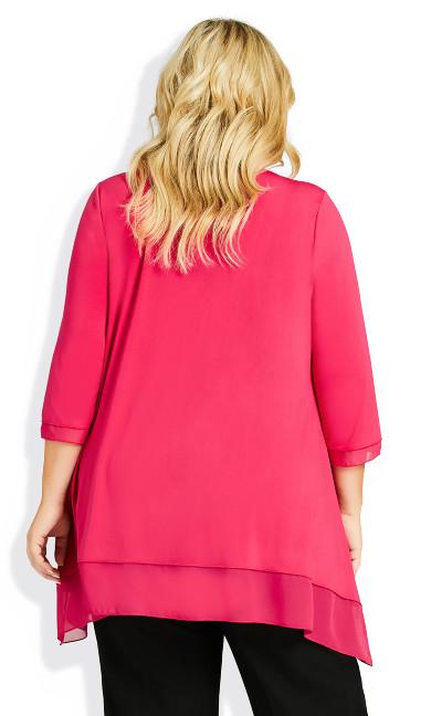 Alma Chiffon Hem Tunic - pink