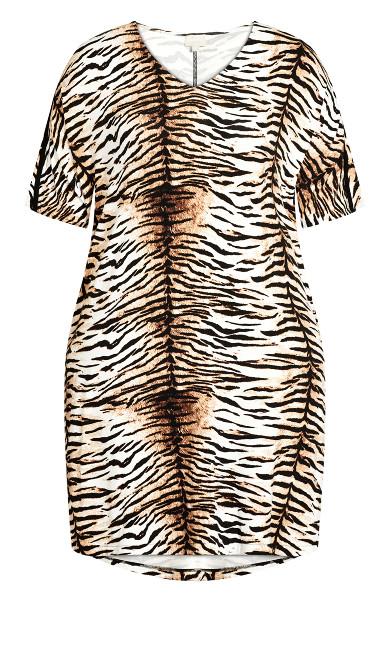 Knit Pocket Dress - tiger