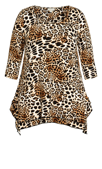 Gia Frill Print Tunic - leopard