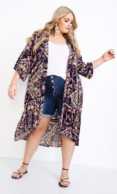 Jayla Lace Trim Jacket - violet