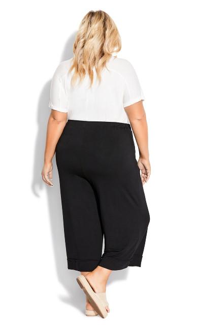 Knit Culotte Trouser - black