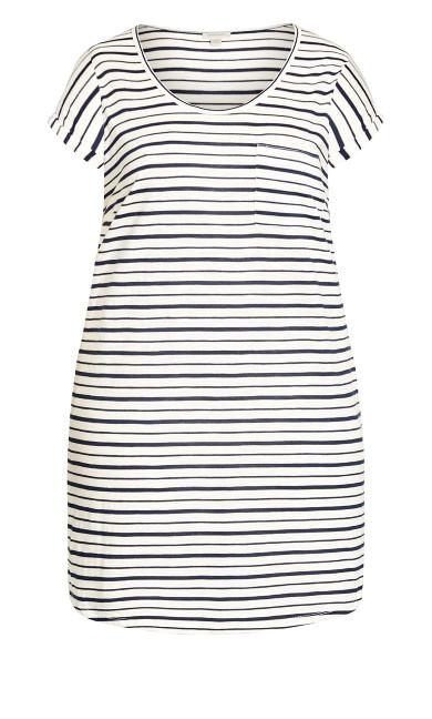 Summer Day Stripe Dress - white