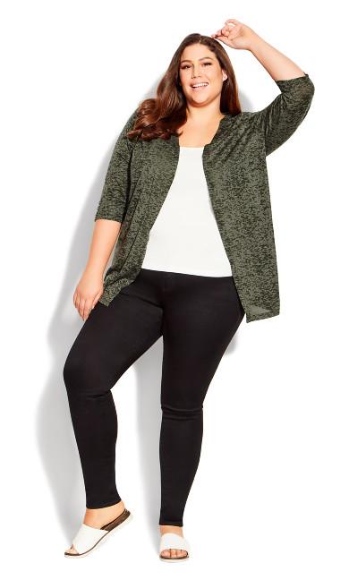 Plus Size Blair Burnout Cardigan avocado