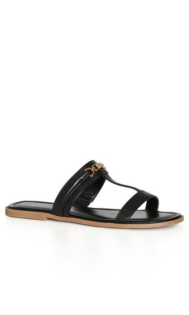 EXTRA WIDE FIT Strappy Chain Slide - black