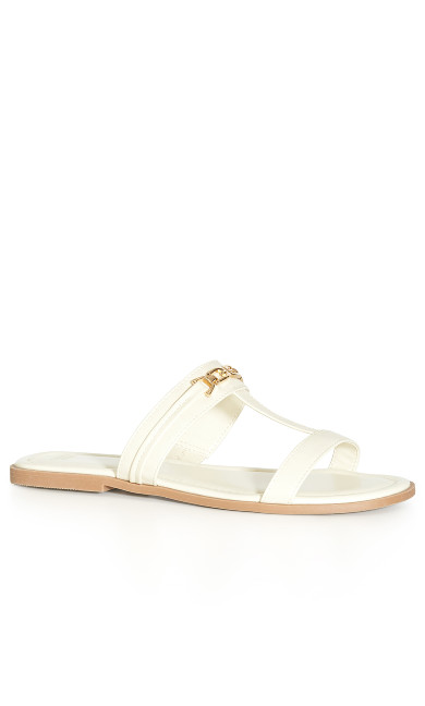 EXTRA WIDE FIT Strappy Chain Slide - ivory