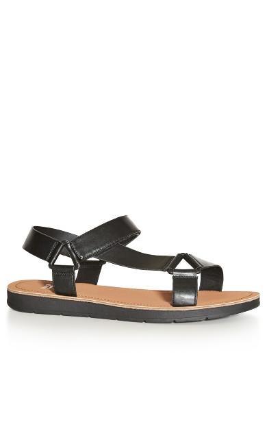 EXTRA WIDE FIT Sporty Strap Sandal - black