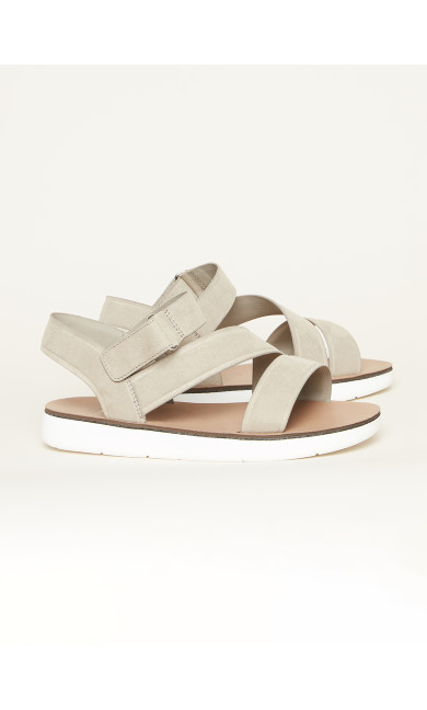 Cross Strap Sporty Sandal - grey