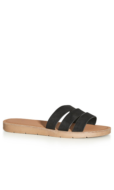 EXTRA WIDE FIT Strappy Slide - black