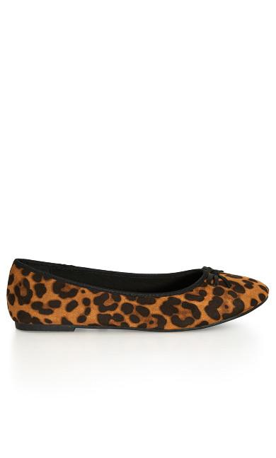 EXTRA WIDE FIT Print Ballet Flat - leopard