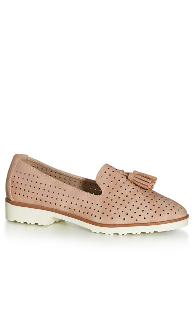 WIDE FIT: Perforated Loafer - pink