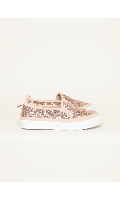 Sequin Canvas Flat - pink