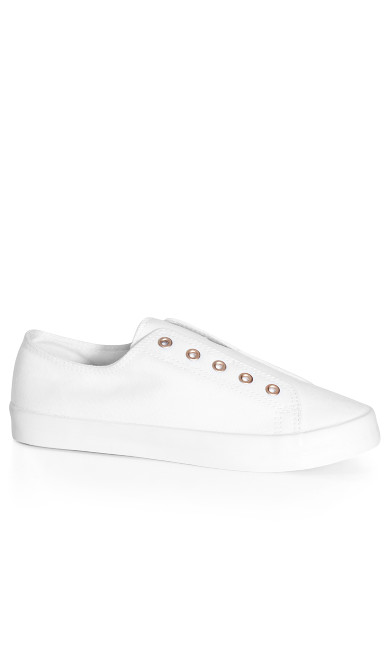 EXTRA WIDE FIT Laceless Trainer - white