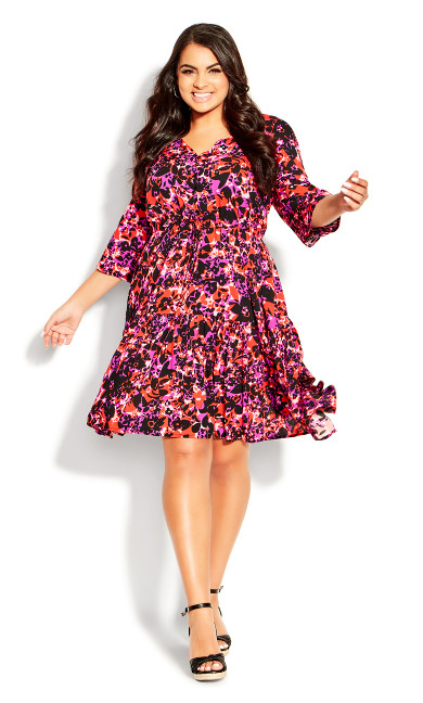 Endless Sun Dress - fuchsia floral
