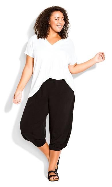 Plus Size Kenzie Drape Pant - black