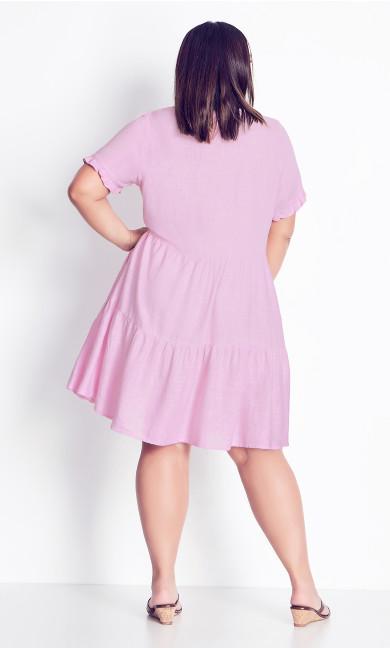 Love Tier Mini Dress - pink