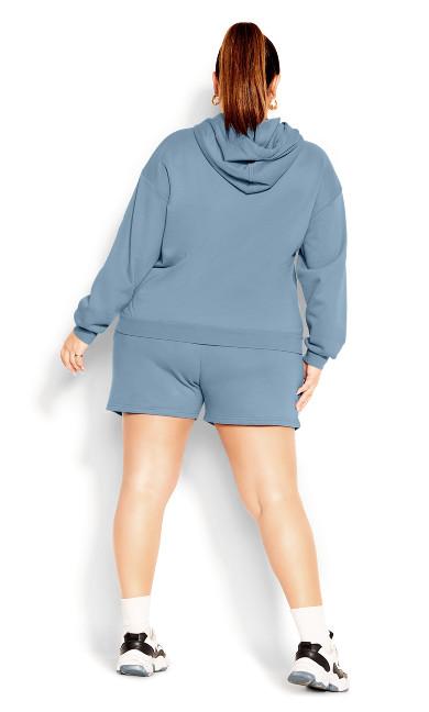 Lounger Hoodie - dusty blue