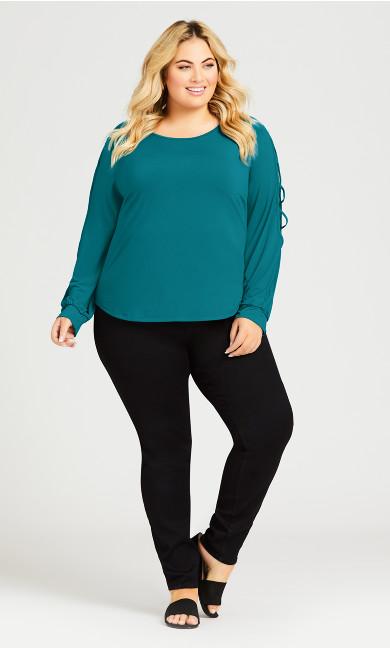 Plus Size Butter Denim Pull On Skinny Jean Average - black