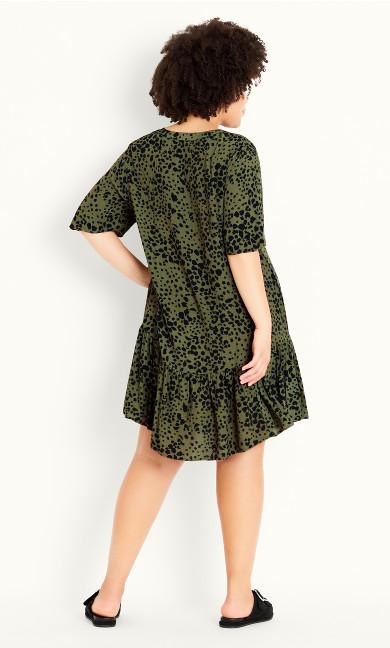Animal Dress - khaki