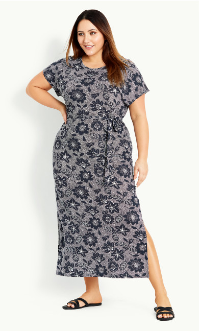 Floral Maxi Dress - black